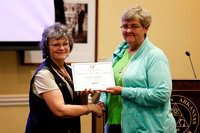 Della Campbell gets The AEC Volunteer of the Year